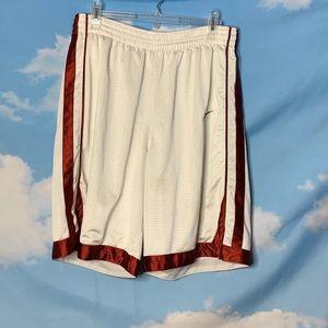 Nike- Red & White Basketball Shorts size Large